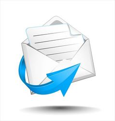 Email with arrow vector image