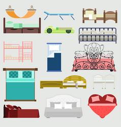 exclusive sleeping beds furniture vector image