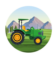 farm tractor vehicle vector image
