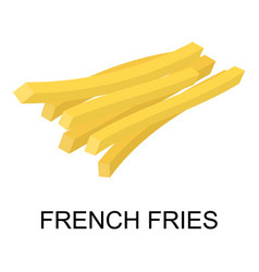 french fries icon isometric style vector image