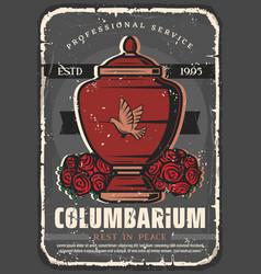 funeral service columbarium burial memorial vector image
