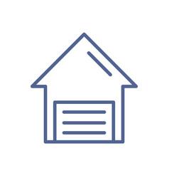 garage gate control icon closed door smart vector image