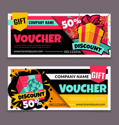 Gift vouchers marketing business flyer promotion vector