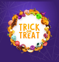 halloween holiday candies trick or treat sweets vector image