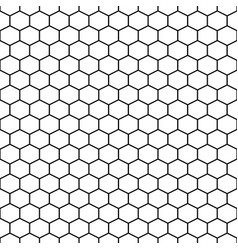Hexagon grid cells seamless pattern vector