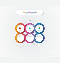 Infographic 3d circle label template design vector