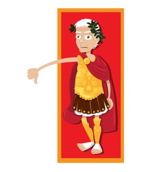 Julius Caesar thumbs down vector
