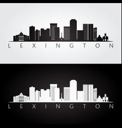 lexington usa skyline and landmarks silhouette vector image