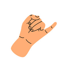 little finger making pinky promise vector image