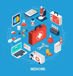 medicine isometric concept vector image