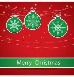 Merry Christmas Greeting card with Christmas balls vector image