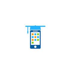 mobile education logo icon design vector image