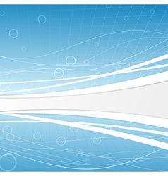 Modern blue background - folder template vector image