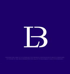 Modern professional logo monogram lb in business vector
