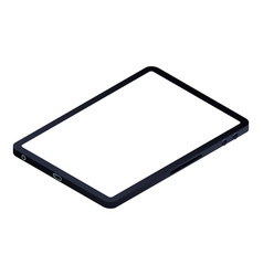 modern tablet icon isometric style vector image