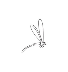 one continuous line drawing agile fliers vector image