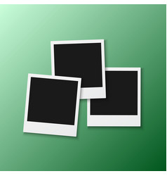 Photo frame realistic snapshot modern photo vector
