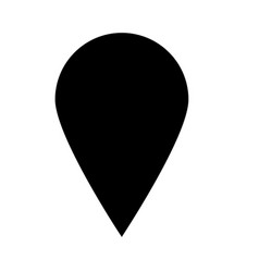 pin on the map on white background flat style vector image
