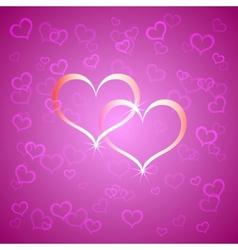 Pink Saint Valentines background vector