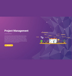 project management concept for website template vector image