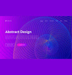 purple abstract helix shape landing page vector image