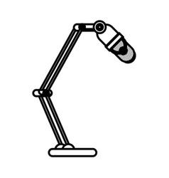 radio microphone retro isolated icon vector image