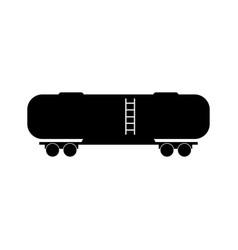 Railboard tank wagon icon vector
