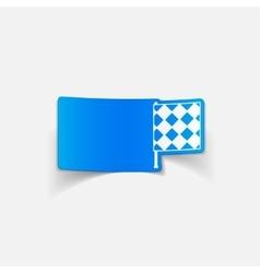 realistic design element linesman flag vector image