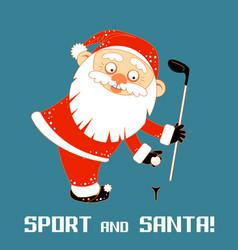 santa claus playing sports games vector image