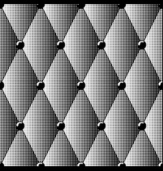 seamless pattern of black halftone diamonds vector image