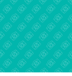 Seamless Simple And Clean Camera Pattern vector image