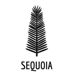 sequoia leaf icon simple black style vector image