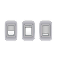 Set airplane indoor portholes realistic vector