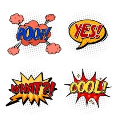 Set of comic bubble speech onomatopoeia vector