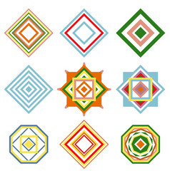 Set of mandalas ethnic oriental geometric vector