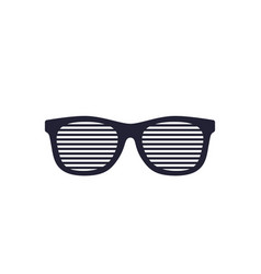 Shutter sunglasses shades isolated on white vector