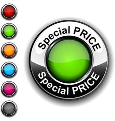 Special price button vector
