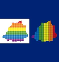 spectrum pixel dotted vatican map vector image
