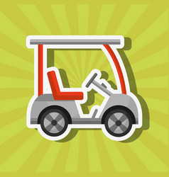Sport golf car transport equipment vector
