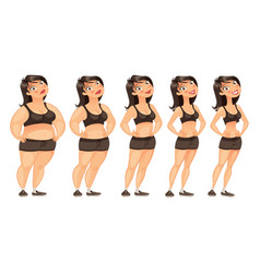 stages of weight loss vector image