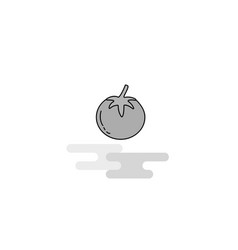 tomato web icon flat line filled gray icon vector image