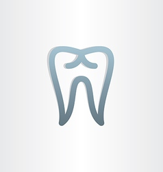 Tooth icon dental design vector