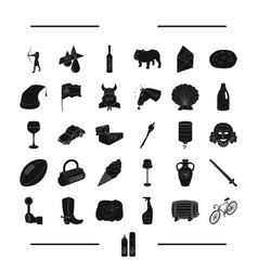 Transport dessert and other web icon in black vector