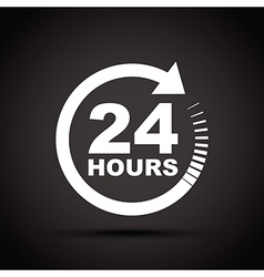 White 24 hours vector
