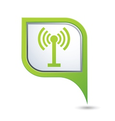wi fi icon on green pointer vector image