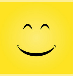yellow smile background vector image