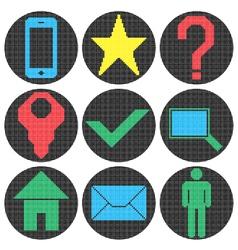 Pixel website icons vector image vector image