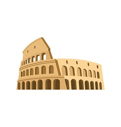 Colosseum in Rome on a white background Italy vector image