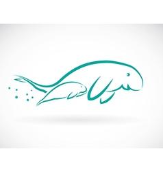 Dugongs vector image