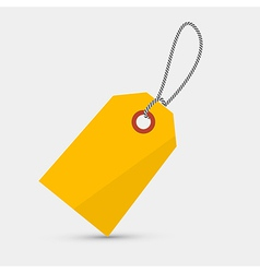 Empty Yellow Label Tag With String vector image